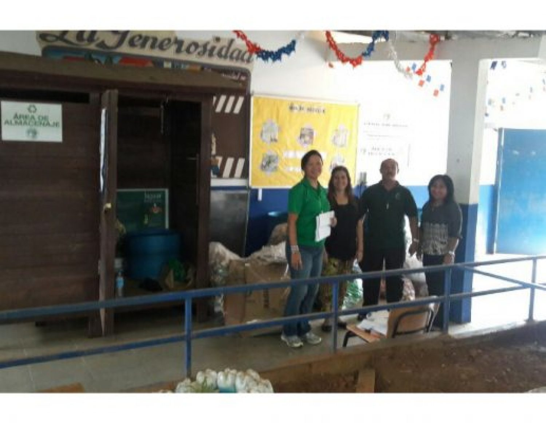 Recolección de reciclables del año 2016 en los centros educativos de Chilibre