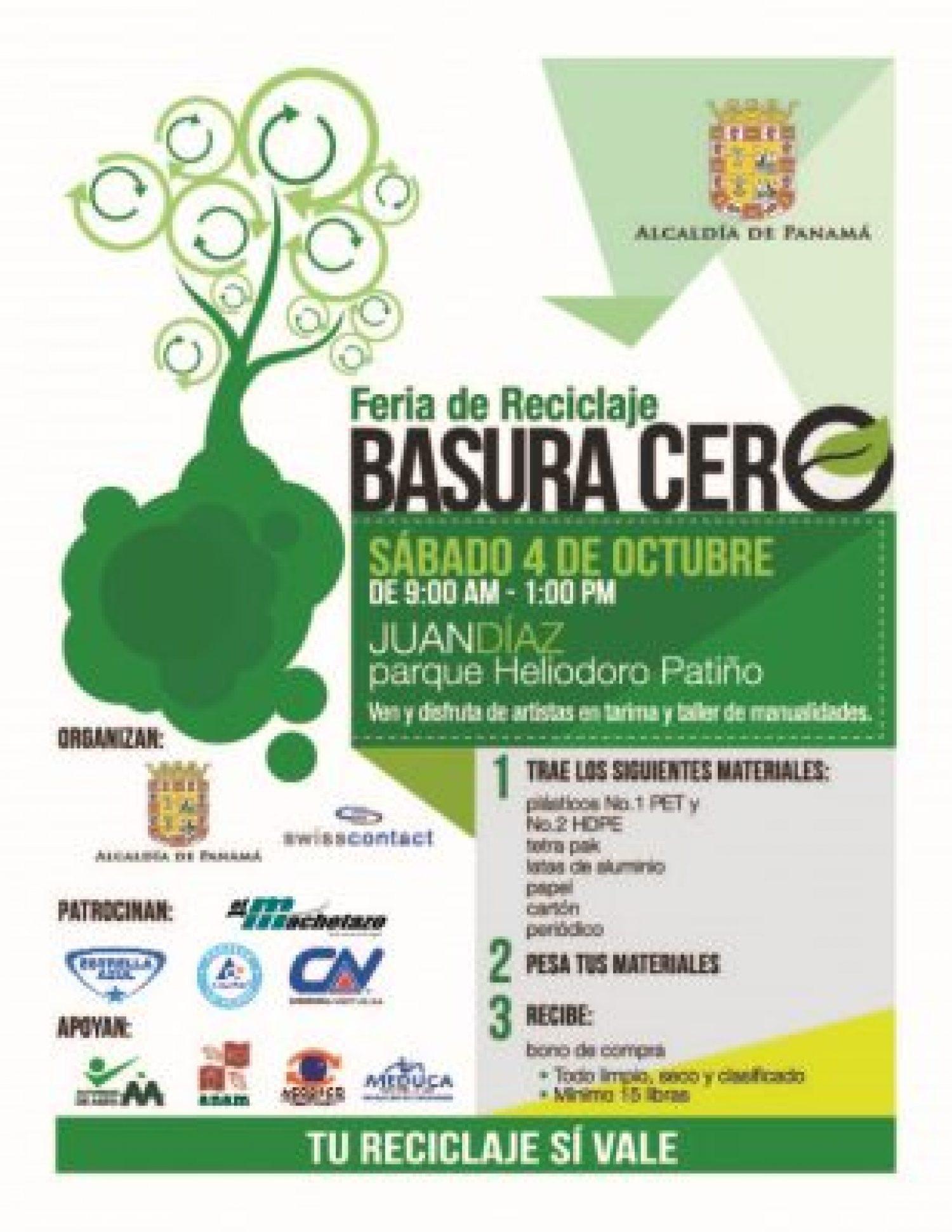 "Primera Feria de Reciclaje ""Basura Cero"" inicia en Juan Díaz"